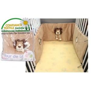tour de lit lion oeko tex dodo d 39 amour. Black Bedroom Furniture Sets. Home Design Ideas