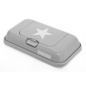 Boite à lingette Funkybox Togo grise étoile blanc