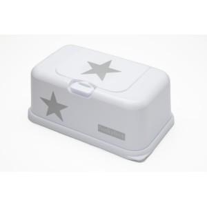 Boite à lingette Funkybox blanc étoile argent
