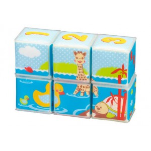 Cubes de bain et déveil Sophie la girafe