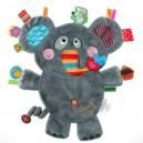 Doudou étiquette Label Label éléphant friends
