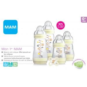 Coffret naissance 4 biberons Mam