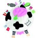 Doudou étiquette Label Label vache friends