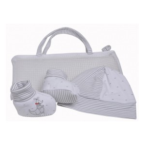 Coffret naissance chaussons + bonnet Skippy Baby on Board