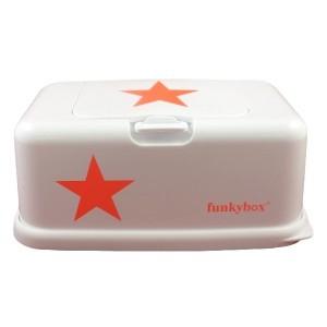 Boite à lingette Funkybox blanc étoile orange