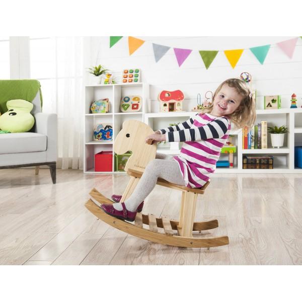 cheval bascule en bois cologique fsc. Black Bedroom Furniture Sets. Home Design Ideas