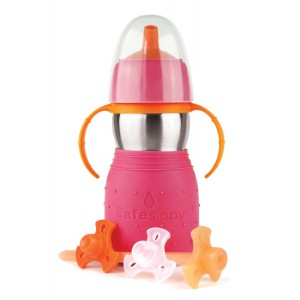 Tasse Skippy 2 rose 330ml Kid Basix