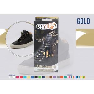 Lacet shoeps noir/doré Limited