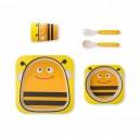 Coffret vaisselle biodégradable abeille 3 pièces