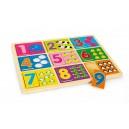 Puzzle bois à poser «Apprendre les chiffres»