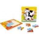 """Puzzle bois """" Famille d'animaux """" lot de 2"""