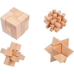 Jeu d´adresse en bois Woody 4 pièces