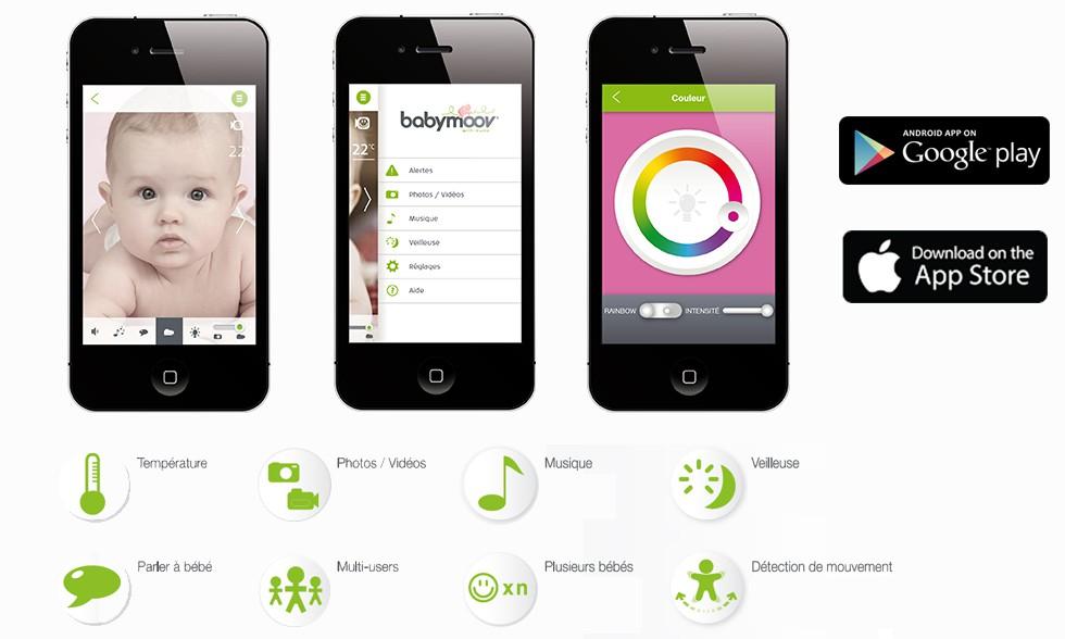 Application Babycaméra Babymoov